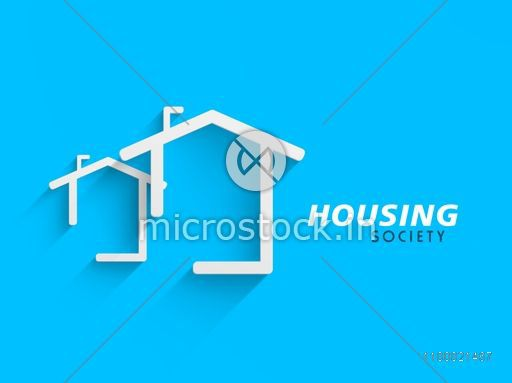 Conceptional architectural residential designing concept on abstract background.