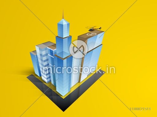 3D concept of building construction, architecture designing concept.