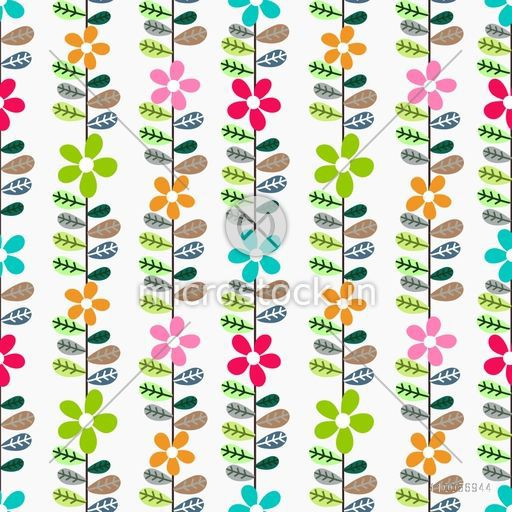 Beautiful floral pattern background with flowers and leaves.