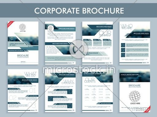 Corporate brochure set, Creative template layout, Cover design and Flyers for Business reports and presentation.