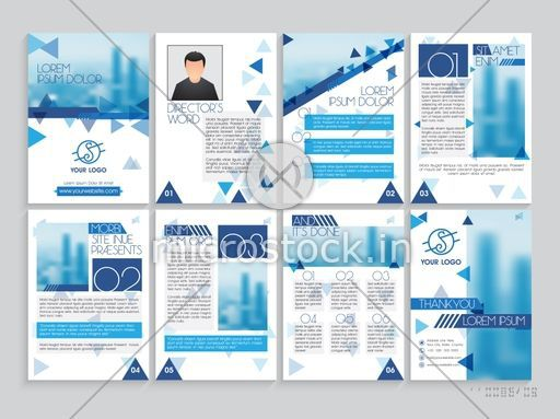 Set of professional brochure, template, cover design, magazine and flyer layout with space for your images and text. Vector illustration for Business reports and presentation.