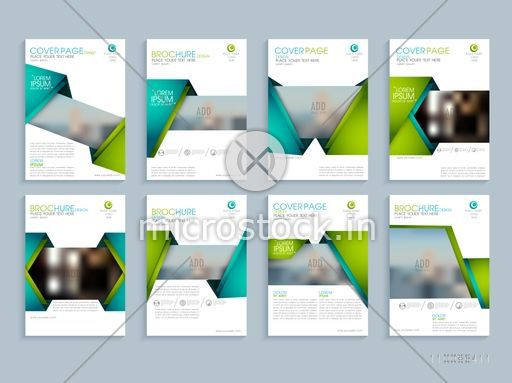 Creative Brochure Design With Space To Add Images Corporate Template Layout With Front Inner And Back Pages Presentation Business Concept