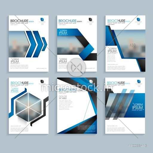 Brochure template layout cover design annual report magazine flyer - Creative Business Brochure Set Corporate Template Layout