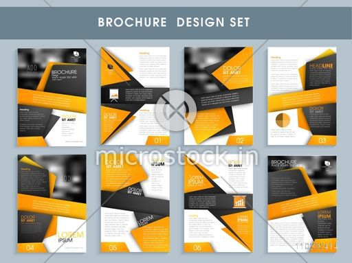 creative professional brochure set template or flyer design layout