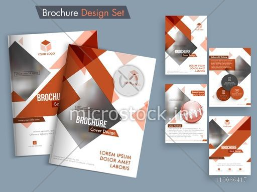 Creative brochure template layout, Abstract cover design, Professional flyer presentation with space to add images. Vector set for Business concept.