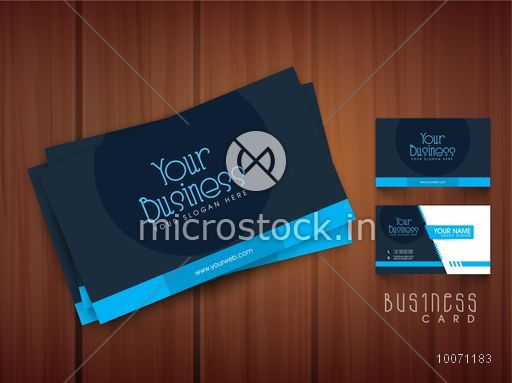 Professional Business Or Visiting Card Design With Front And Back