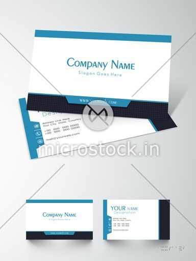 Shiny Professional Business Or Visiting Card Design With Blank Space For Your Company Details On Grey
