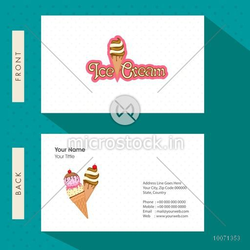 Creative business card or visiting card design for ice cream parlour creative business card or visiting card design for ice cream parlour reheart Images