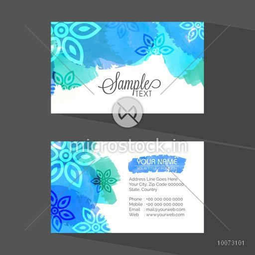 Stylish floral design decorated horizontal business card or visiting stylish floral design decorated horizontal business card or visiting card set with front and back side colourmoves