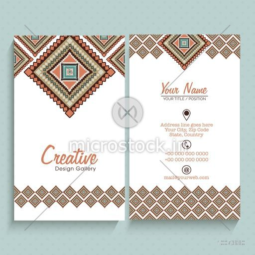 Front and back side presentation of artistic vertical business card front and back side presentation of artistic vertical business card or visiting card set with space colourmoves