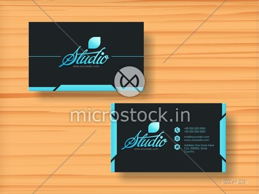 Stylish Horizontal Business Card Visiting Card Name Card Or