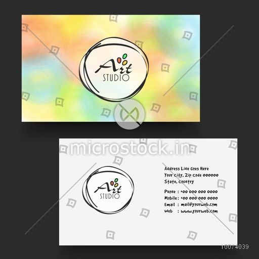 Beautiful stylish horizontal business card name card or visiting beautiful stylish horizontal business card name card or visiting card set in multiple colors for reheart Gallery