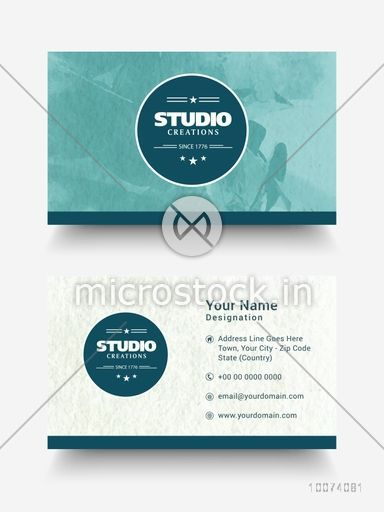 Creative horizontal business card visiting card or name card set creative horizontal business card visiting card or name card set with front and back side colourmoves
