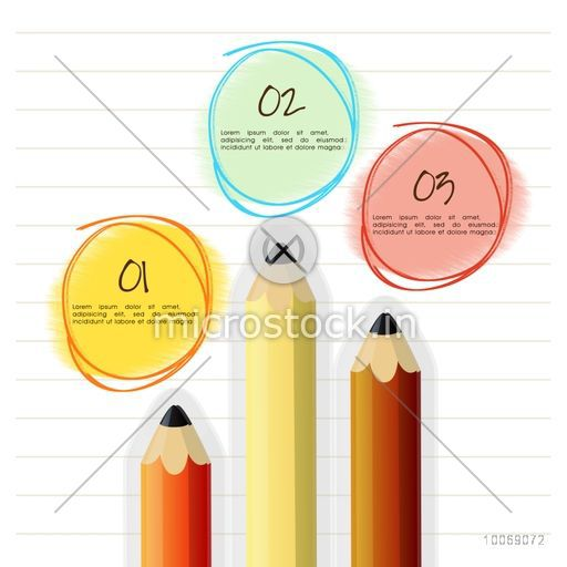 Creative business infographic layout with pencil.