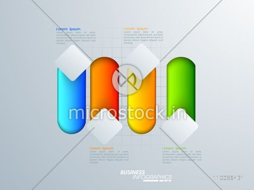 Glossy colorful infographic elements for workflow layout, diagram, business reports and presentation.
