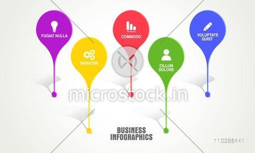 Colorful infographic pointers for Business reports, graphs, charts and presentation.