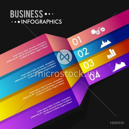 Colorful infographic elements with number option, Glossy infographic paper  banners, Can be used for workflow layout, business reports and