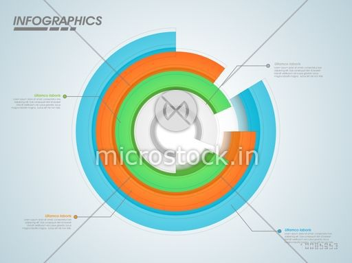 Colorful 3d infographic circle chart for your business reports and colorful 3d infographic circle chart for your business reports and financial data presentation ccuart Choice Image