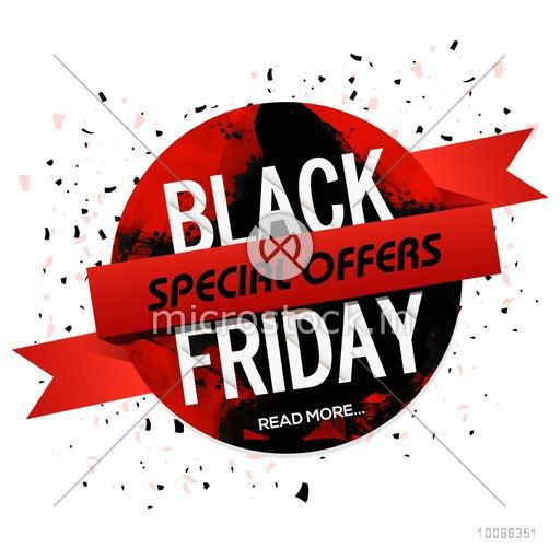 Black friday special offers sticker label tag with for Style at home special offer