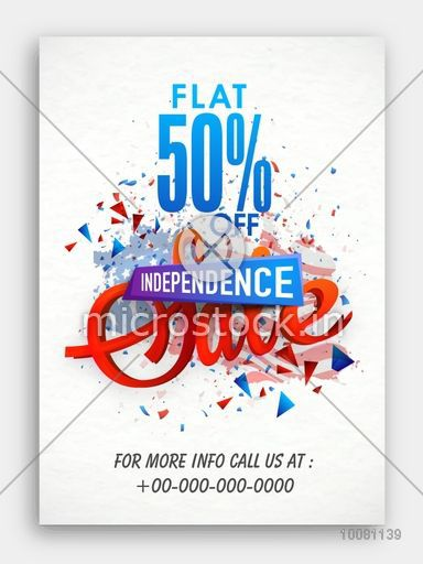 Sale With Flat  Discount Offer Creative Pamphlet Banner Or