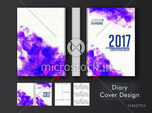 Abstract Geometric Design Decorated Diary Cover Personal Organizer Or Notebook Template Layout
