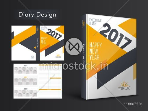 Creative Personal Organizer, Notebook or Diary Cover design for the year 2017.