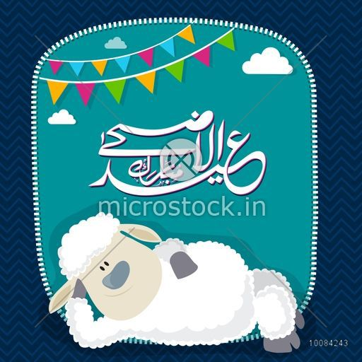 Illustration of a cute baby sheep with arabic islamic calligraphy illustration of a cute baby sheep with arabic islamic calligraphy text eid al adha m4hsunfo