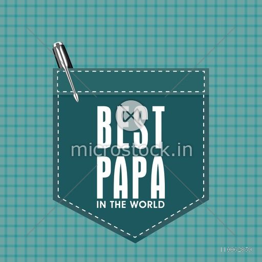 Creative greeting card design with stylish text Best Papa on pocket and pen for Happy Father's Day celebration.