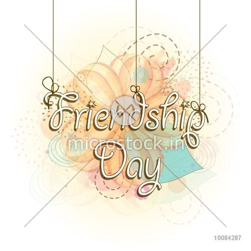 Stylish Hanging Text Friendship Day On Abstract Background Can Be Used As Poster Banner