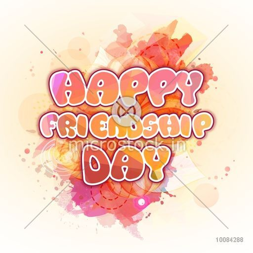Stylish Text Happy Friendship Day On Abstract Background Can Be Used As Poster Banner