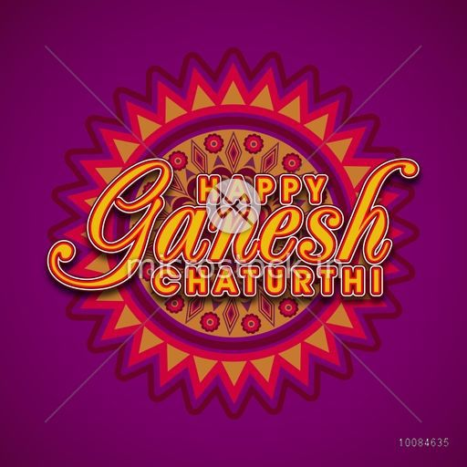 Stylish text happy ganesh chaturthi on beautiful floral rangoli stylish text happy ganesh chaturthi on beautiful floral rangoli vector indian festivals greeting card m4hsunfo