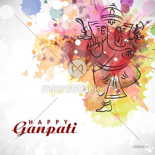 Illustration of lord ganesha with colorful splash for ganesh illustration of lord ganesha with colorful splash for ganesh chaturthi celebration vector indian festivals greeting m4hsunfo