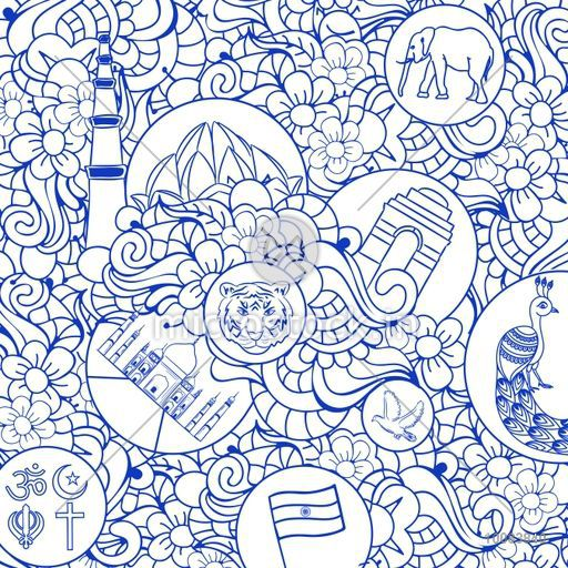 Creative Hand Drawn Doodle Ornamental Seamless Pattern With Indian