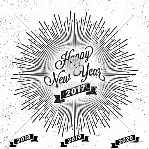 Happy New Year Lettering Design 86