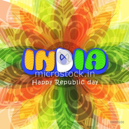 Floral design decorated greeting card with national flag colours floral design decorated greeting card with national flag colours text india for happy republic day celebration m4hsunfo