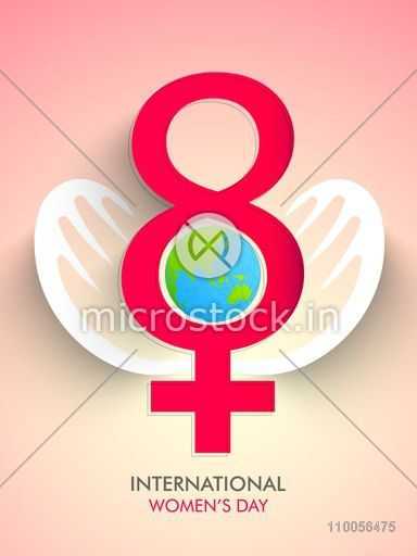 Save Girl Child Concept With Human Hands Protecting Globe Glossy