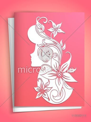 Beautiful greeting card design with envelope and floral design beautiful greeting card design with envelope and floral design decorated young girl for international womens day m4hsunfo