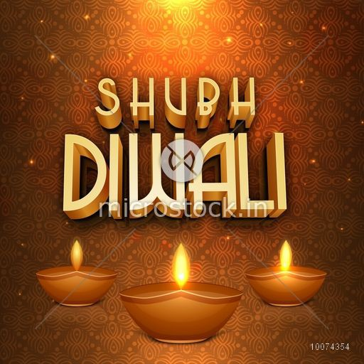 Creative greeting card with glossy 3d text shubh diwali happy creative greeting card with glossy 3d text shubh diwali happy diwali and traditional illuminated m4hsunfo