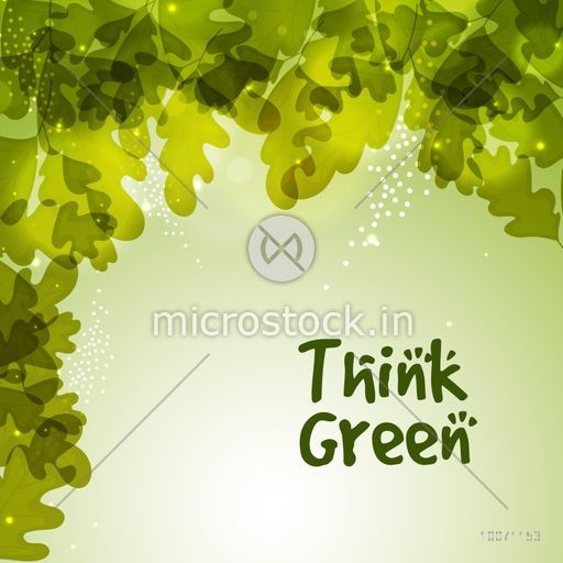 Stylish pattern with shiny green leaves for Ecology concept.