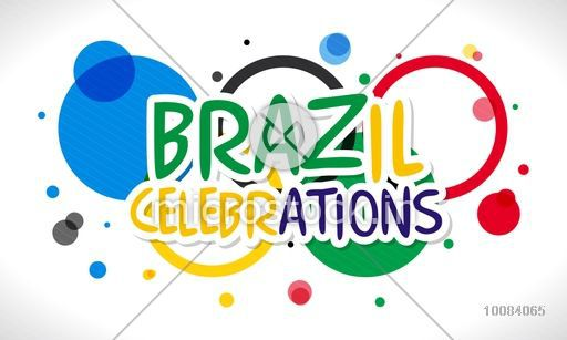 Brazil Celebrations lettering design on colorful circles background, Can be used as Poster, Banner or Flyer.