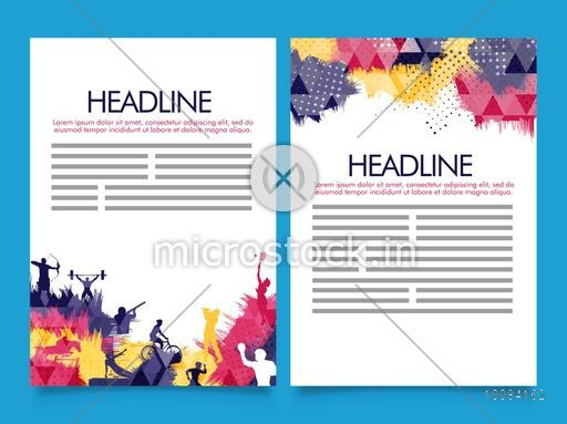 Creative Two Page Brochure Template Or Flyer Presentation With