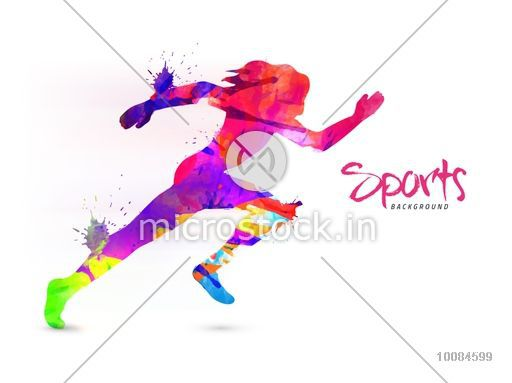 Abstract Background With Sport Icons Royalty Free Vector: Creative Sports Background With Abstract Colorful