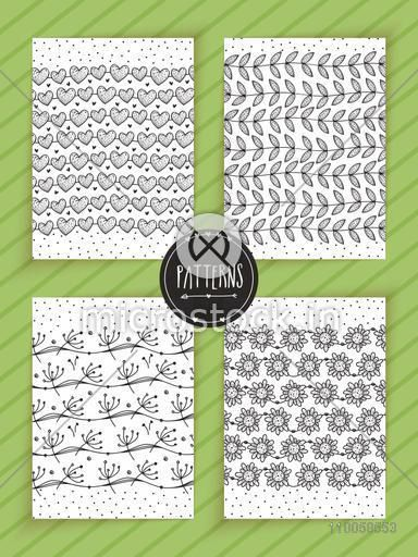 Collection of beautiful hand drawn pattern and border lines.