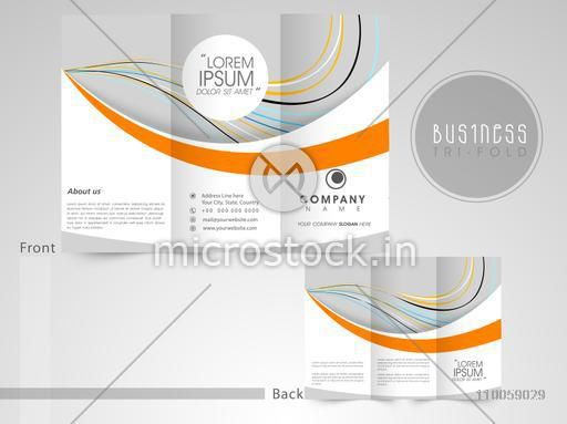 Professional three fold flyer, brochure or template for business purpose, can be use as presentation or cover design.
