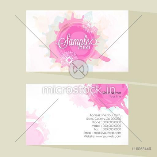 Colorful professional business card with place holder and both side presentation.