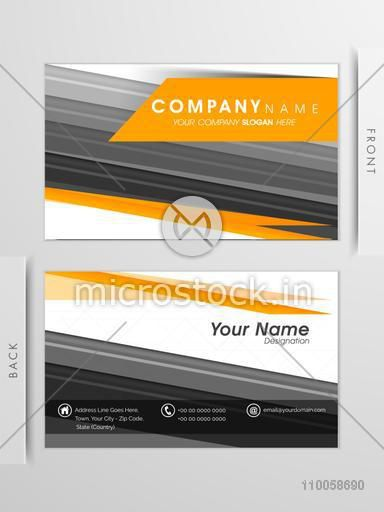 Professional business card or visiting card set for your company with front and back view.
