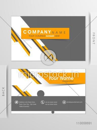 Abstract professional business card or visiting card set with front and back view.