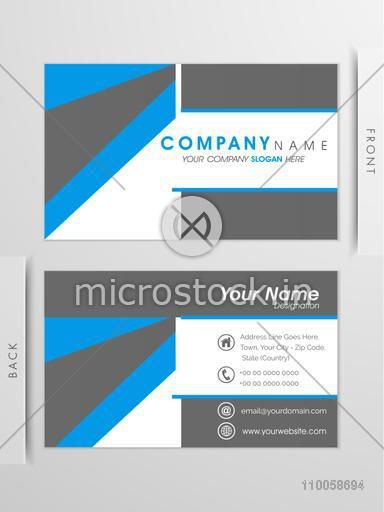 Two sided presentation of business card with proper place holders for your contact details.