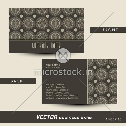 Professional two sided designer business card with proper place holders for your Company's name and contact details.