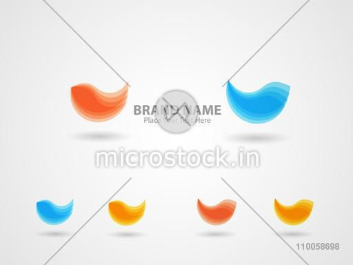 Stylish business symbol in different colour on shiny grey  background.